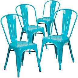 Flash Furniture 33.5-Inch Indoor-Outdoor Metal Chair