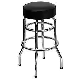 Flash Furntiure Double Ring 30.25-Inch Chrome Stool