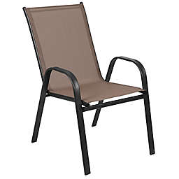 Flash Furniture Stackable Patio Sling Arm Chair Set