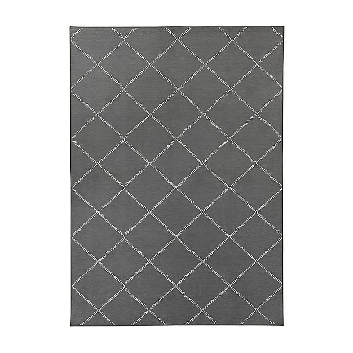 Alternate image 1 for My Magic Carpet Moroccan Diamond Washable Rug