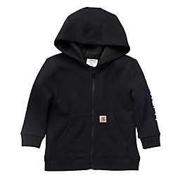 Carhartt® Fleece Long Sleeve Full Zip Hoodie in Black