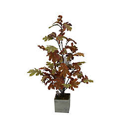 32-Inch Pre-Lit Leaf Artificial Harvest Tree