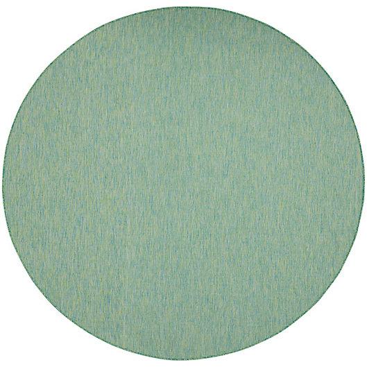 Alternate image 1 for Nourison Positano 8' Round Indoor/Outdoor Area Rug in Blue/Green
