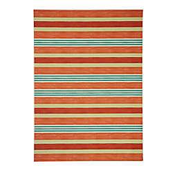 Waverly® Sun N' Shade On Course 7'9 x 10'10 Indoor/Outdoor Area Rug in Orange