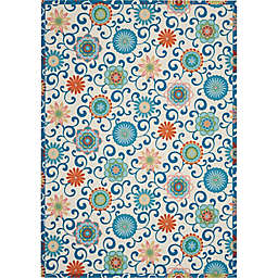 Waverly® Sun N' Shade Vivid Floral 7'9 x 10'10 Indoor/Outdoor Rug in Ivory/Multi