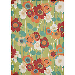 Waverly® Sun N' Shade Pic-A-Poppy 4'3 x 6'3 Indoor/Outdoor Accent Rug