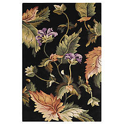 Nourison Tropics Enchanting Floral 8' x 11' Area Rug in Black
