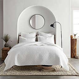 Linen/Cotton 3-Piece Full/Queen Quilt Set in White