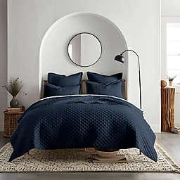 Linen/Cotton 3-Piece King Quilt Set in Navy