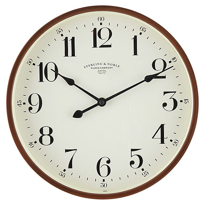 Alternate image 1 for Sterling & Noble® 11.5-Inch Round Traditional Wall Clock in Espresso