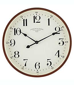 Reloj de pared de plástico Sterling & Noble® Traditional color espresso