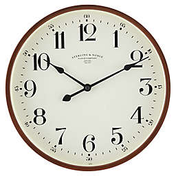 Sterling & Noble® 11.5-Inch Round Traditional Wall Clock in Espresso
