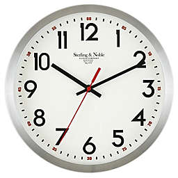 Sterling & Noble® 11.5-Inch Round Aluminum Wall Clock in Silver