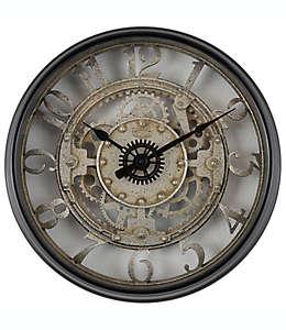 Reloj de pared de plástico Sterling & Noble® color negro
