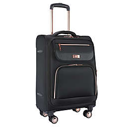 Traveler's Club® 20-Inch Softside Expandable Spinner Carry On Luggage in Black