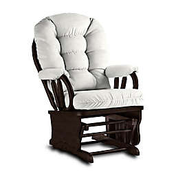 Best Chairs Bedazzle Glider and Ottoman in Ivory Snow