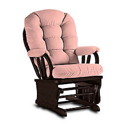 Best Chairs Bedazzle Glider and Ottoman in Blush