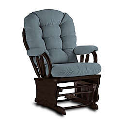 Best Chairs Bedazzle Glider and Ottoman in Blue Slate