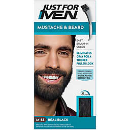 Just For Men® Mustache and Beard Brush-In Color Gel in Real Black