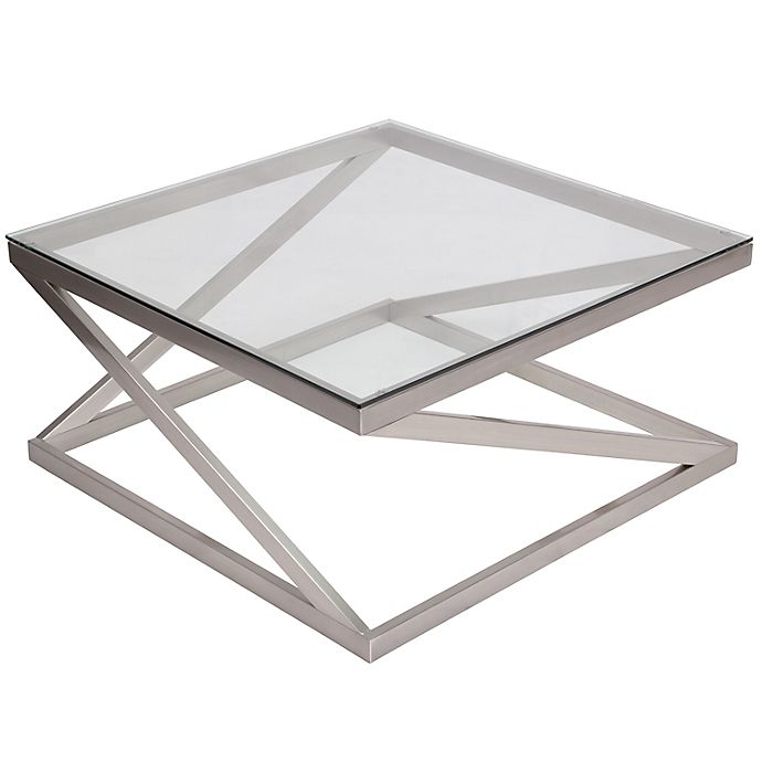 Alternate image 1 for Flash Furniture Coylin Cocktail Table in Brushed Nickel