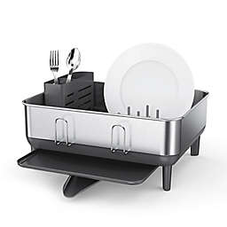simplehuman® Stainless Steel Frame Compact Dish Rack