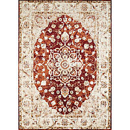 United Weavers Bridges Ponte Vecchio 12'6 x 15' Area Rug in Crimson
