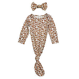 Toby Fairy™ Size 0-3M Lady Leopard Gown and Headband Set