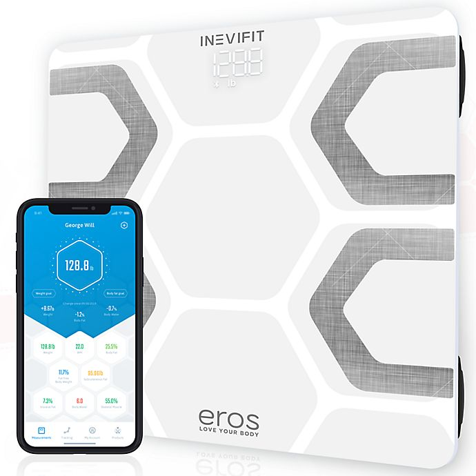 Alternate image 1 for INEVIFIT™ Eros Bluetooth Smart Body Fat Scale in White