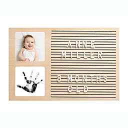 Pearhead® Babyprints Wooden Letterboard Picture Frame in Wood