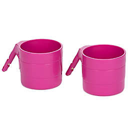 Diono® 2-Pack Car Seat Cup Holders in Pink
