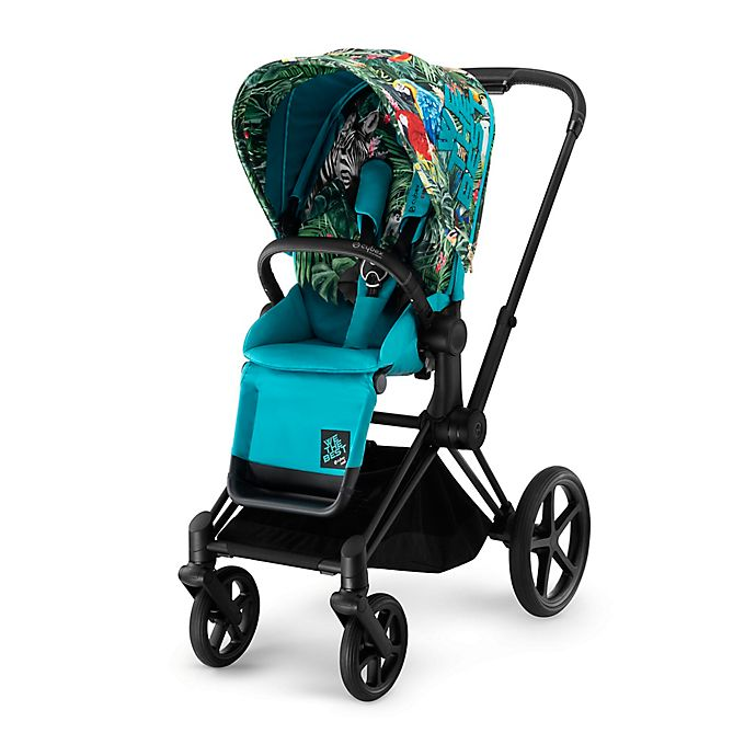 Alternate image 1 for CYBEX by DJ Khaled We The Best ePRIAM Stroller with Matte Black Frame and We The Best Seat Pack
