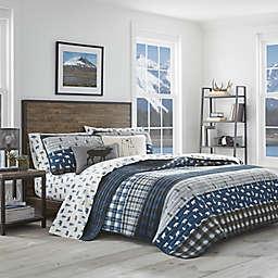 Eddie Bauer® Blue Creek Plaid Reversible Quilt Set in Navy