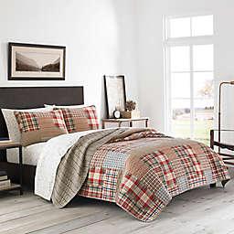 Eddie Bauer® Hawthorne Patchwork Reversible Quilt Set in Brown