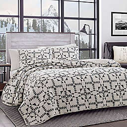 Eddie Bauer® Arrowhead Reversible Twin Quilt Set in Charcoal