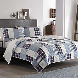 Eddie Bauer® Camano Island Plaid Full/Queen Quilt Set in Plum