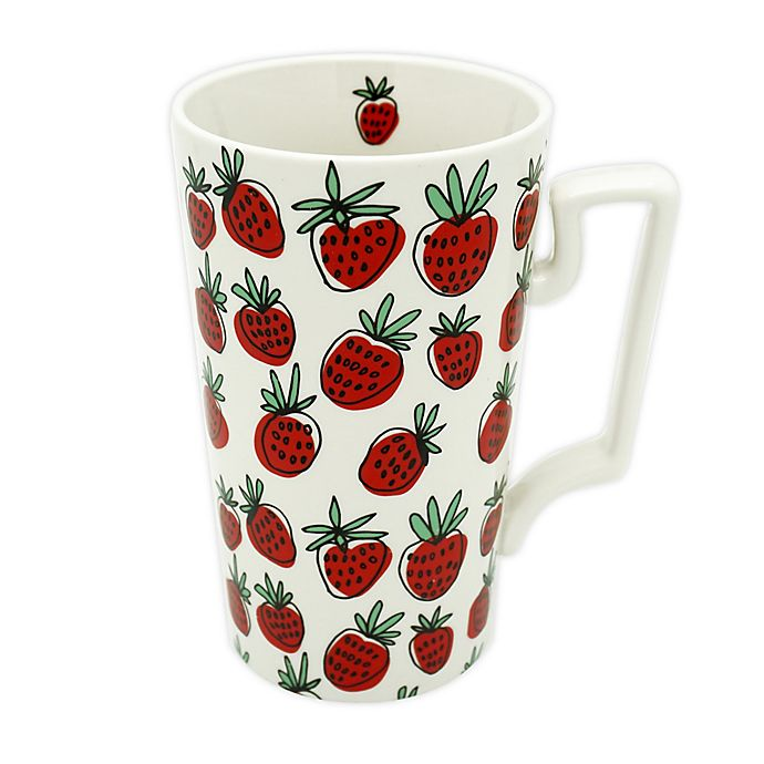 Alternate image 1 for Strawberry 23 oz. Coffee Mug in Red