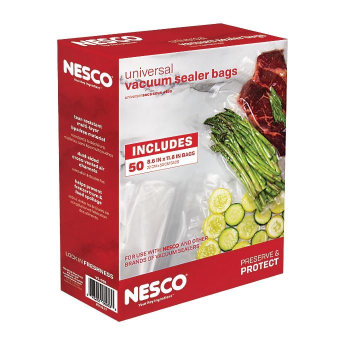 Alternate image 1 for Nesco® 50-Count Vacuum Sealer Bags