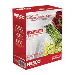 Nesco® 50-Count Vacuum Sealer Bags