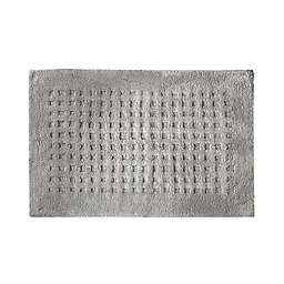 Elrene Home Fashions Essential Waffle Modern Bath Rug in Grey