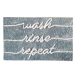 "Elrene Home Fashions ""Wash Rinse Repeat"" Novelty Bath Rug"
