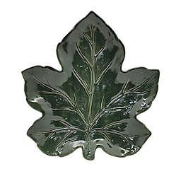 Leaf 13-Inch Serving Platter in Green