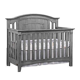 Oxford Baby Willowbrook 4-in-1 Convertible Crib in Graphite Grey