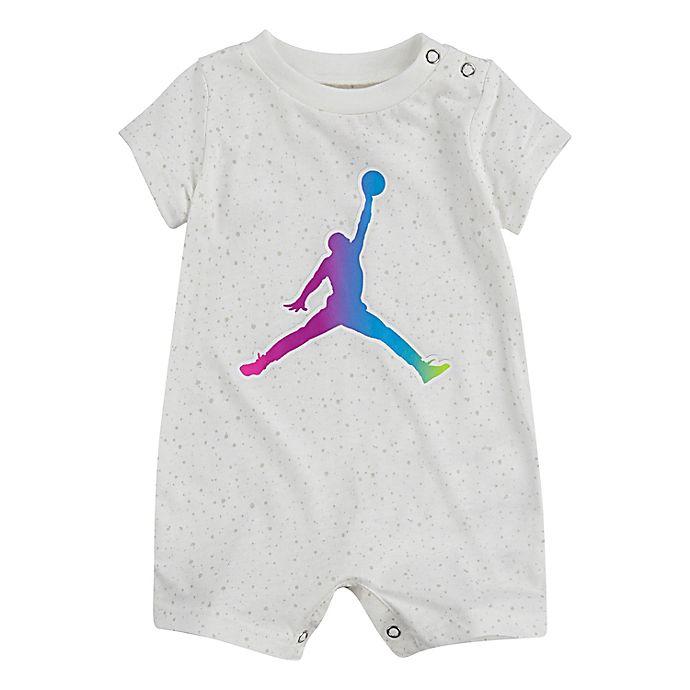 Alternate image 1 for Jordan® Jordan Jumpman Speckle Romper in White
