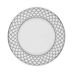 Noritake® Eternal Palace Dinner Plates in White/Platinum (Set of 4)
