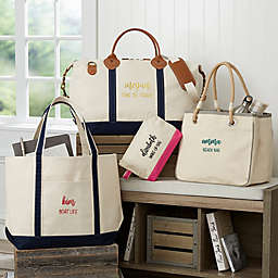Scripty Style Weekender Embroidered Tote