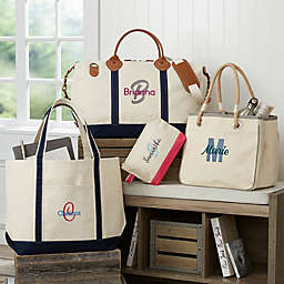 Playful Name Embroidered Weekender Tote