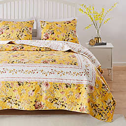 Barefoot Bungalow Finley 3-Piece Reversible King Quilt Set in Yellow