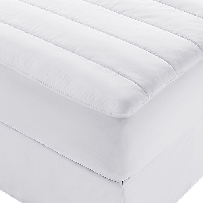 Alternate image 1 for Brookstone® Queen Heated Mattress Pad in White