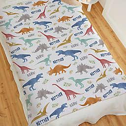 Baby Dinosaur World Sherpa Blanket