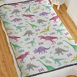 Baby Dinosaur World Woven Throw Blanket